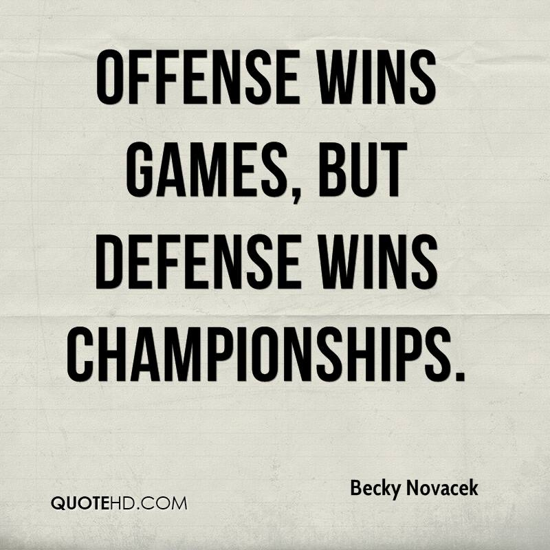 Offense Wins Games, But Defense Wins Championships